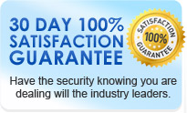 30 Day 100% satisfaction guarantee